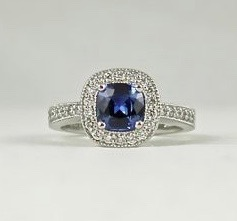 Earthwise Jewelry® Blue sapphire ring