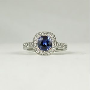Earthwise Jewelry® Eleanor blue sapphire ring