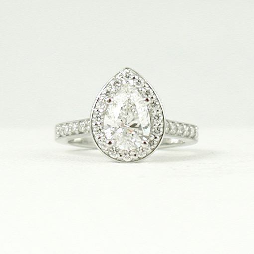 Earthwise Jewelry Eleanor pear shape diamond