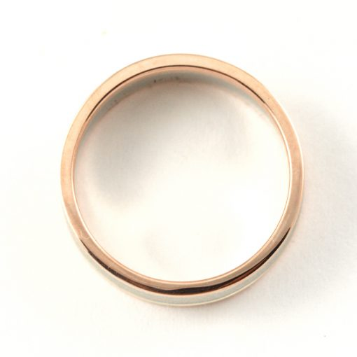 Earth wise Jewelry David two tone wedding band