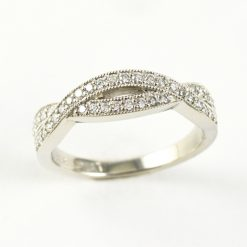 Platinum Earthwise Jewelry Barbara pave diamond wedding band
