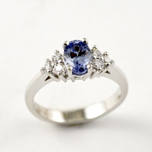 Earthwise Jewelry Tricia blue sapphire engagement ring