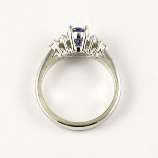 Earthwise Jewelry Nan blue sapphire ring side view