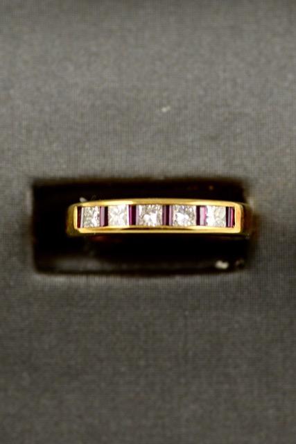 Leber Jeweler ruby and diamond band