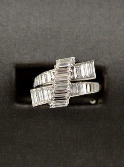 Leber Jeweler vintage white gold diamond ring