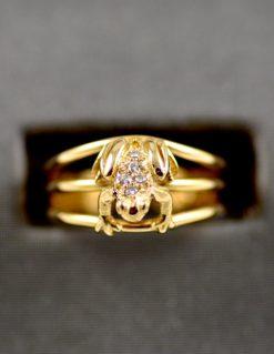 Leber Jeweler Vintage Frog Ring