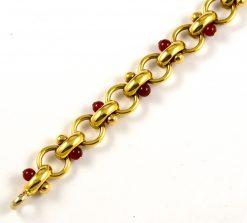 Leber Jeweler yellow gold carnelian bracelet