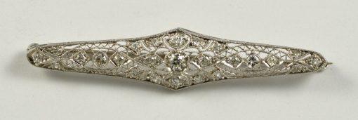 Leber Jeweler antique diamond pin