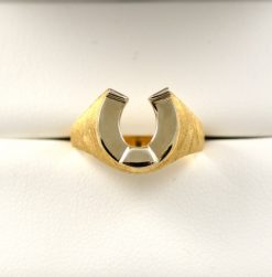 Leber Jeweler vintage horseshoe ring
