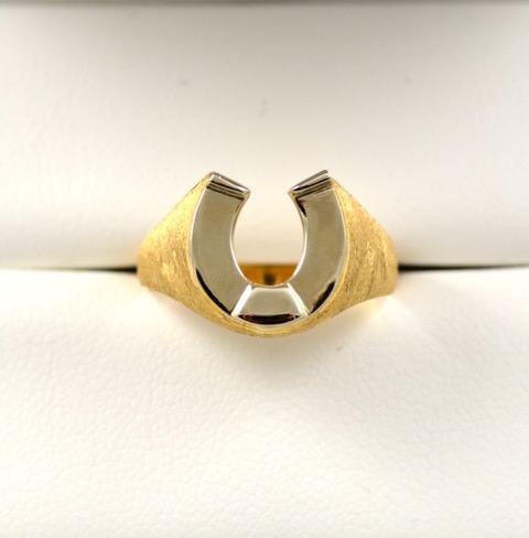 Leber Jeweler vintage horseshoe ring