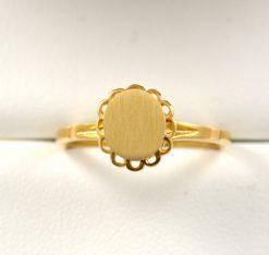 Leber Jeweler vintage signet ring