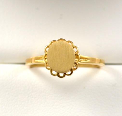 Leber Jeweler vintage signet ring