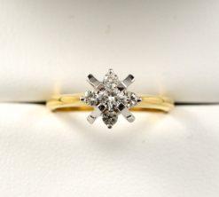 Leber Jeweler vintage Atomic Age diamond ring