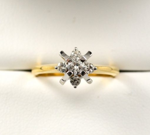 Leber Jeweler vintage Atomic Age diamond ring