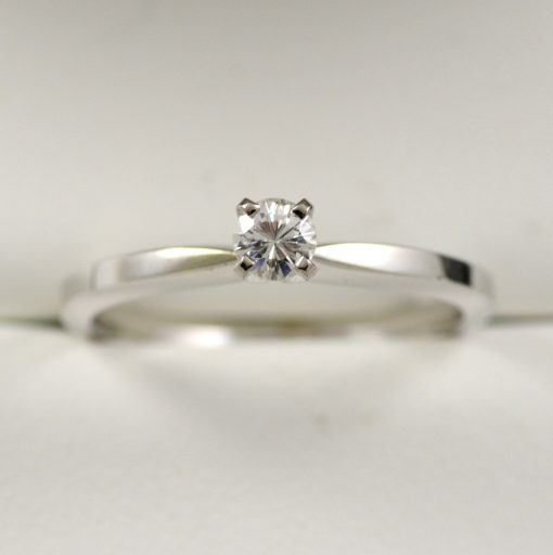 Leber Jeweler delicate diamond solitaire engagement ring