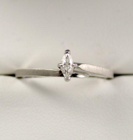 Leber Jeweler vintage marquise cut diamond engagement ring