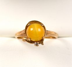 Leber Jeweler vintage tiger's eye ring
