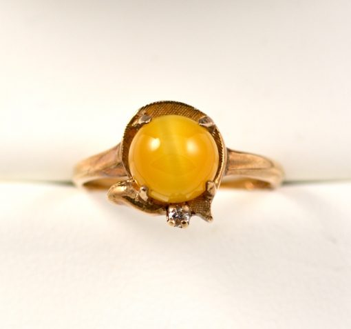 Leber Jeweler vintage tiger's eye ring