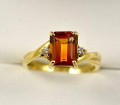 Leber Jeweler citrine and diamond ring