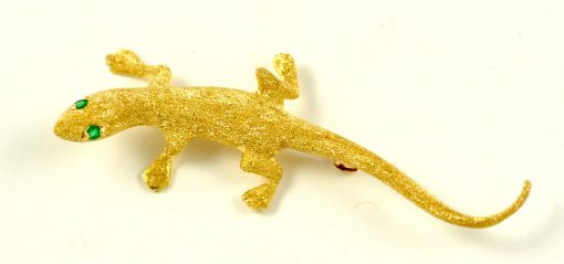 Leber Jeweler chameleon pin