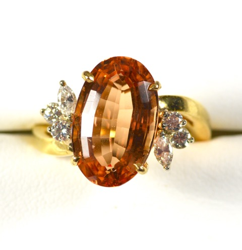 Leber Jeweler Precious topaz and diamond Ring