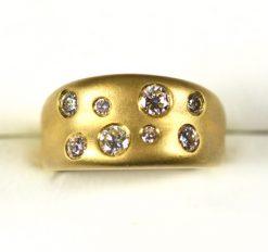 Leber Jeweler scatter set diamond band