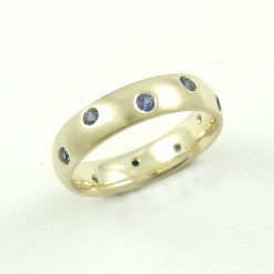 Earthwise Jewelry® Charles blue sapphire band