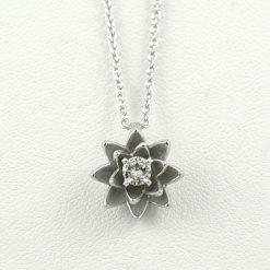 Earthwise Jewelry® diamond lotus necklace