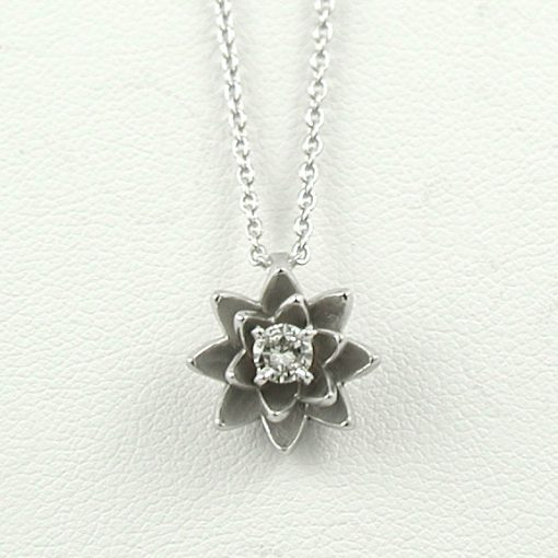 Earthwise Jewelry® diamond lotus necklace
