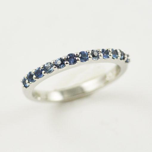 Earthwise Jewelry Bessie Montana Sapphire wedding band