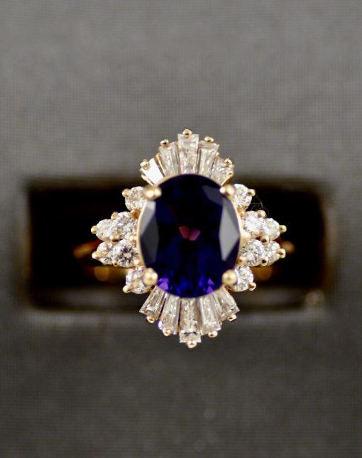 Leber Jeweler amethyst ballerina ring