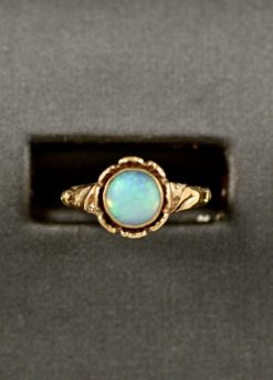 Leber Jeweler opal flower ring