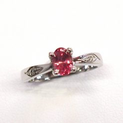 Earthwise Jewelry Amelia leaf ruby ring. By Leber Jeweler.