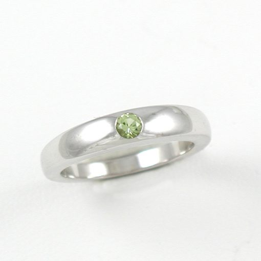 Earthwise Jewelry Stacks peridot ring. By Leber Jeweler.