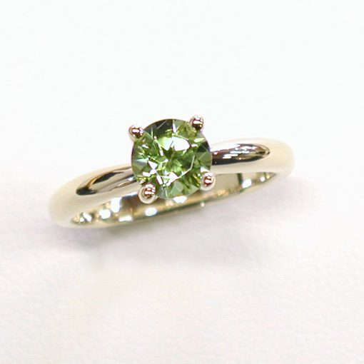 Earthwise Jewelry Valentina Peridot solitaire engagement ring