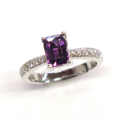 Earth wise Jewelry Valentina Pave Amethyst Engagement Ring