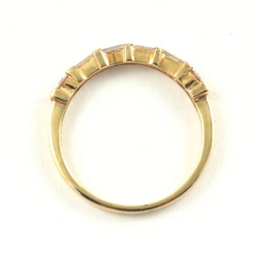 Leber Jeweler baguette diamond band side view.